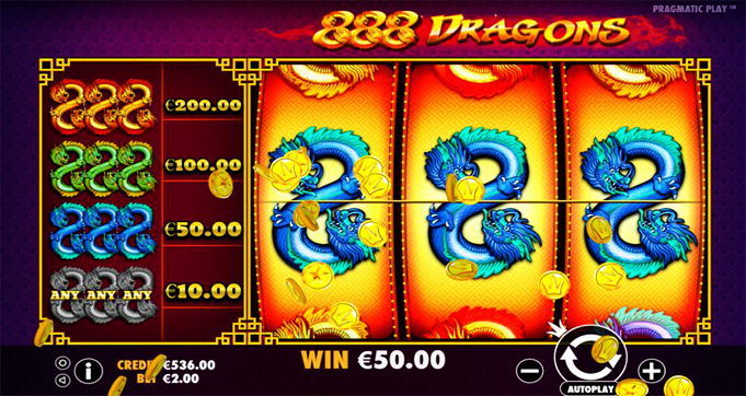 888 dragon slot online